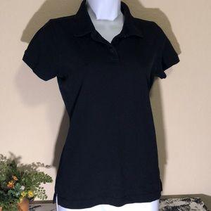 Landmark women's black polo shirt